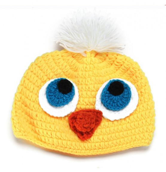 Handmade Crochet Knit Hat - Bird - OMG
