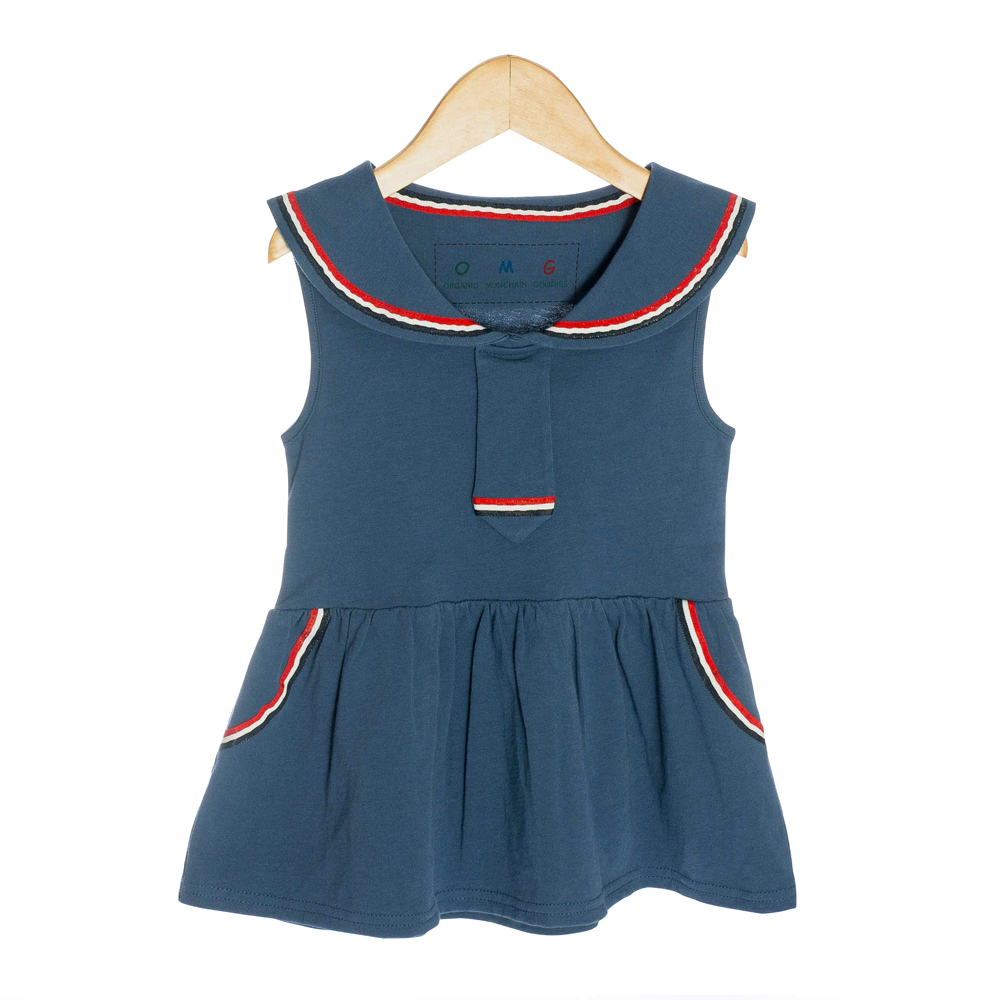 Sailor Organic Baby Dress - OMG