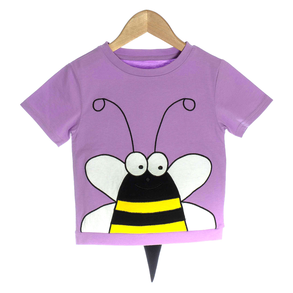 Purple Organic Baby T-shirt with Bumble Bee - OMG