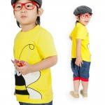Bumble Bee Tee and Denim Harem Shorts by OMG