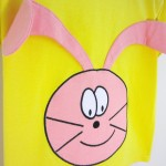 Yellow Organic Baby T-shirt with Bunny - OMG
