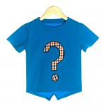 Blue Organic Baby T-shirt with Question Mark - OMG