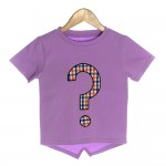 Purple Organic Baby T-shirt with Question Mark - OMG
