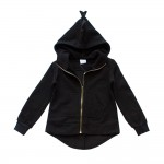 OMG Dinosaur Zip-up Hoodie | Black