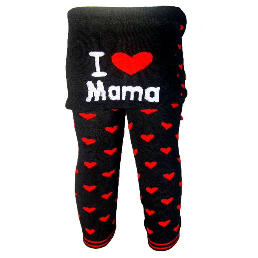 """OMG Baby Knit Leggings   """"I Heart Mama"""" in Off-White"""