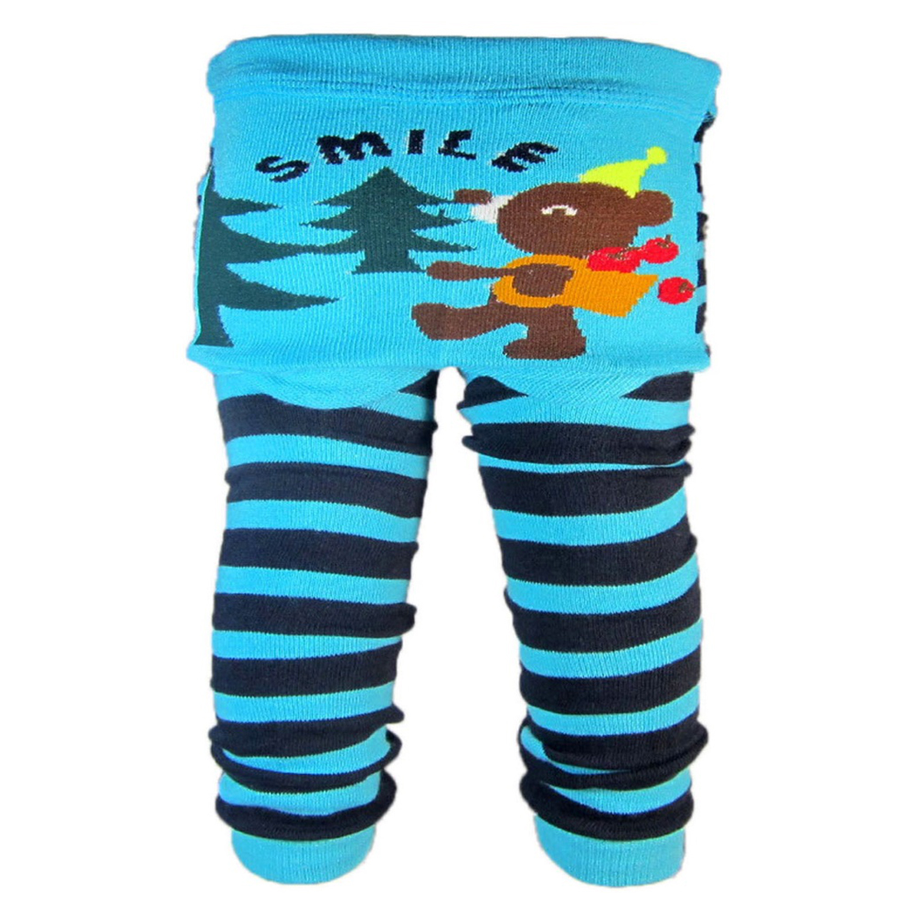 "OMG Baby Knit Leggings | ""Smile"" Brown Bear"