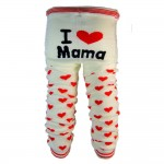 "OMG Baby Knit Leggings | ""I Heart Mama"" in Off-White"