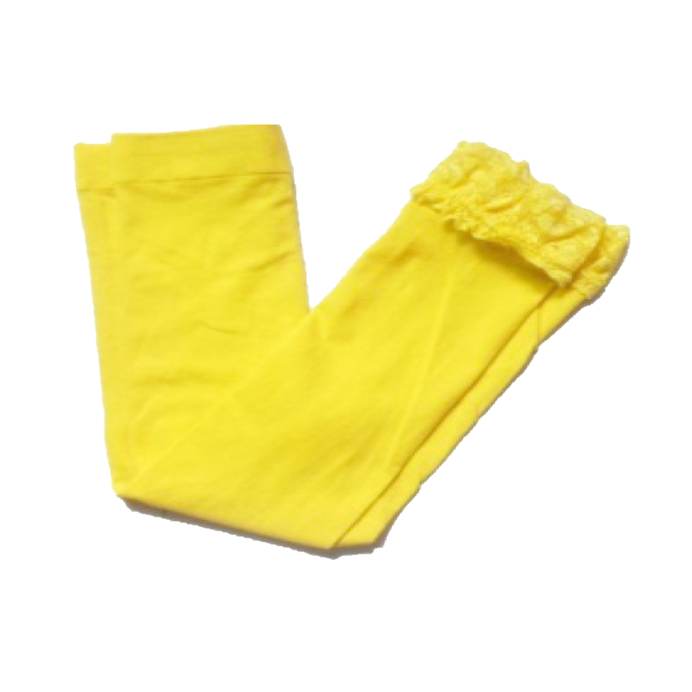 OMG Toddler Nylon Leggings | Yellow + Lace