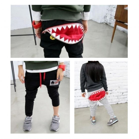 OMG Big Mouth Shark Pants | Black